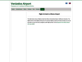 venizelosairport.com screenshot