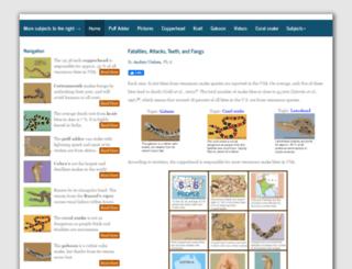 venomoussnakes.net screenshot