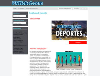 venta.prticket.com screenshot