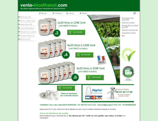 vente-bioethanol.com screenshot