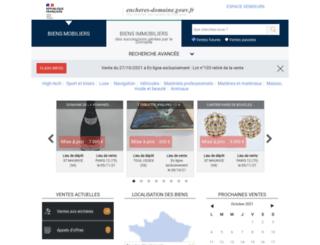 ventes-domaniales.fr screenshot