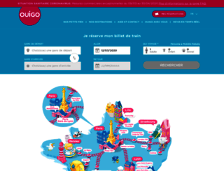 ventes.ouigo.com screenshot