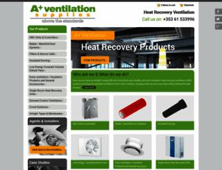 ventilationsupplies.ie screenshot