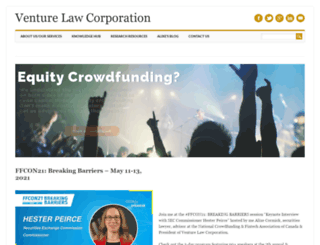 venturelawcorp.com screenshot