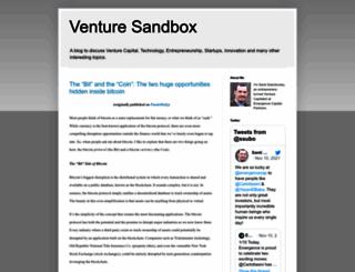 venturesandbox.com screenshot