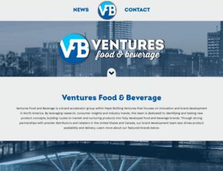 venturesfoodbev.com screenshot