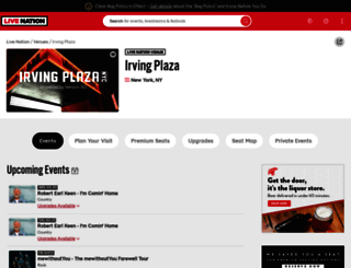 venue.irvingplaza.com screenshot