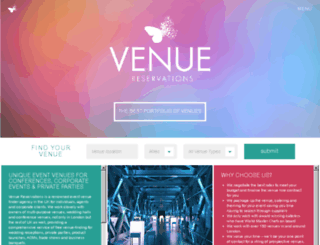 venuereservations.co.uk screenshot