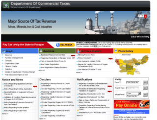 ver1.jharkhandcomtax.gov.in screenshot