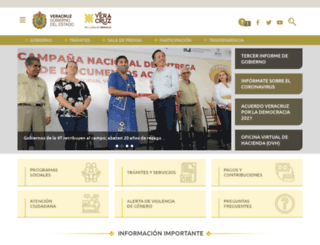 veracruz.gob.mx screenshot