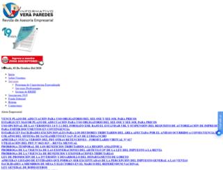 veraparedes.org screenshot