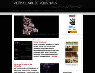 verbalabusejournals.com screenshot