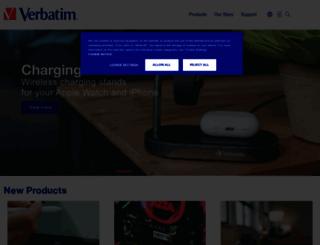 verbatim-europe.co.uk screenshot