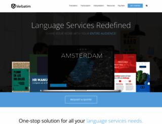 verbatimsolutions.com screenshot