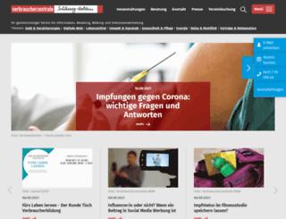 verbraucherzentrale-sh.de screenshot