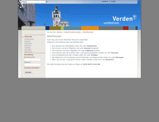 verden.ratsinfomanagement.net screenshot