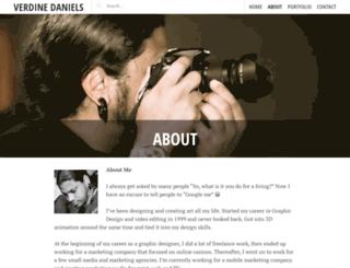 verdinedaniels.com screenshot
