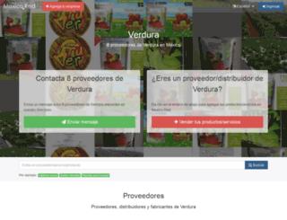 verdura.mexicored.com.mx screenshot