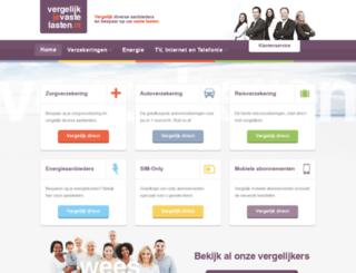 vergelijkjevastelasten.nl screenshot