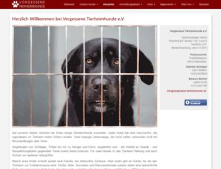 vergessene-tierheimhunde.de screenshot