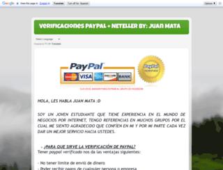 verificacionespaypalyneteller.blogspot.pe screenshot