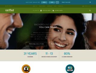 verifiedcredentials.com screenshot