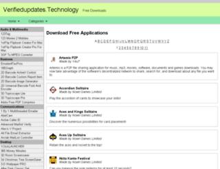 verifiedupdates.technology screenshot