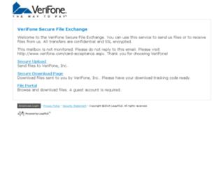 verifone.leapfile.com screenshot