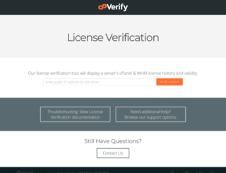 verify.cpanel.net screenshot