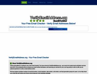 verifyemailaddress.com screenshot