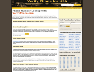 verifyphone.com screenshot