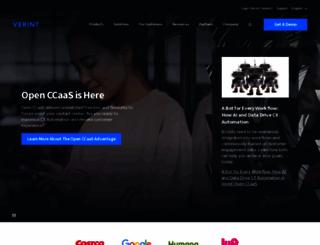 verint.com screenshot