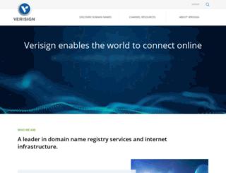 verisign.com screenshot