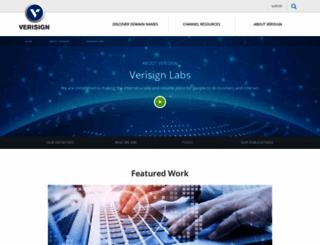 verisignlabs.com screenshot