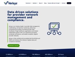 verisys.com screenshot