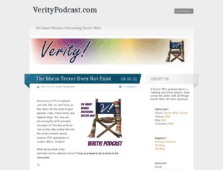 veritypodcast.wordpress.com screenshot