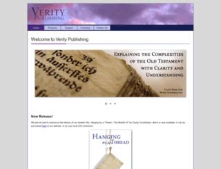 veritypublishing.com screenshot