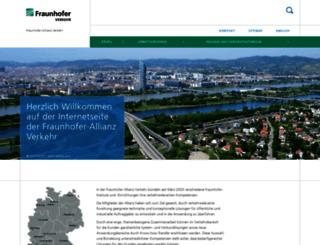 verkehr.fraunhofer.de screenshot