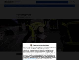 verkehrsmeldungen.polizei-bw.de screenshot