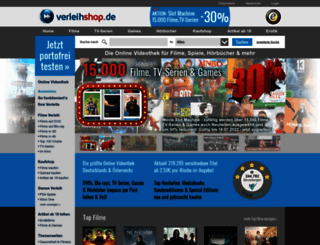 verleihshop.de screenshot