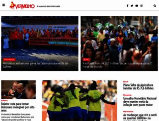 vermelho.org.br screenshot