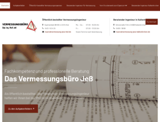 vermessung-jess-kiel.de screenshot