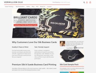 vermillionsilkcards.com screenshot