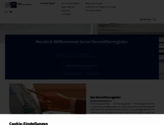 vermittlerregister.org screenshot