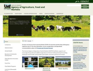 vermontagriculture.com screenshot