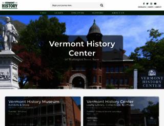 vermonthistory.org screenshot