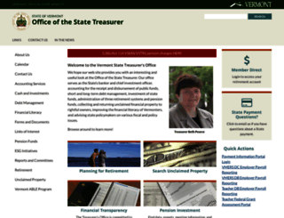 vermonttreasurer.gov screenshot