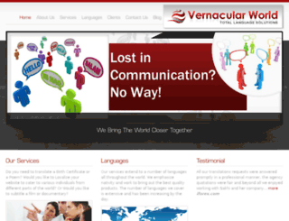 vernacularworld.com screenshot