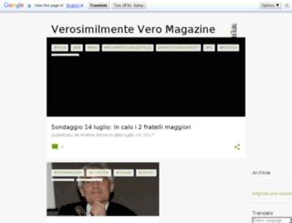 verosimilmentevero.blogspot.it screenshot