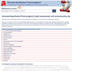 versand-apotheke-preisvergleich.de screenshot
